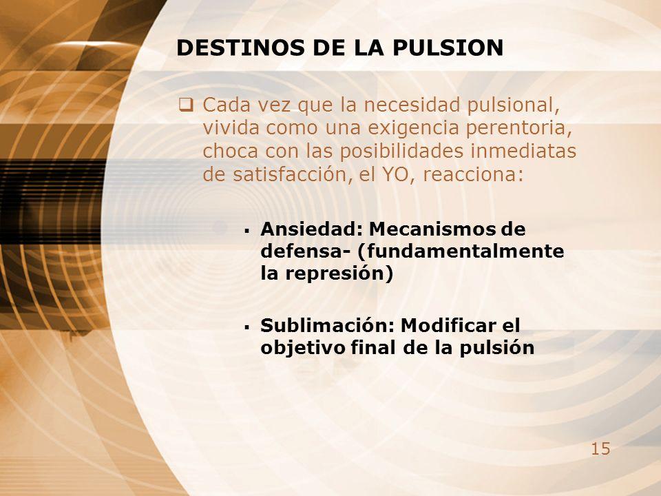 DESTINOS DE LA PULSION