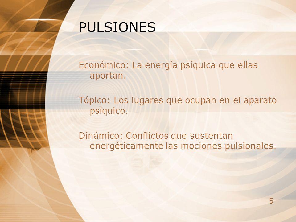 PULSIONES Económico: La energía psíquica que ellas aportan.