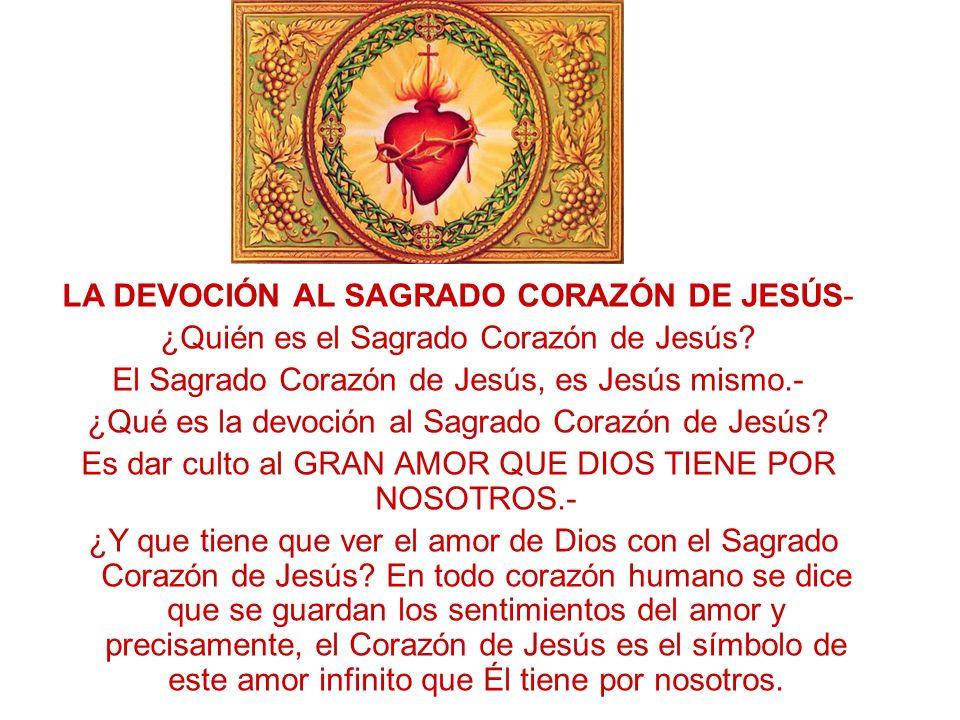 LA DEVOCIÓN AL SAGRADO CORAZÓN DE JESÚS-