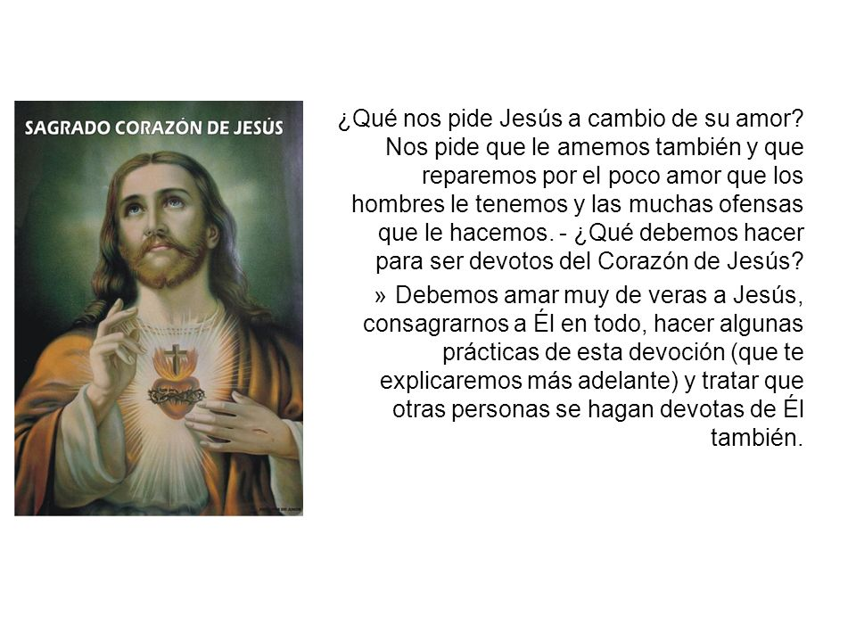 ¿Qué nos pide Jesús a cambio de su amor