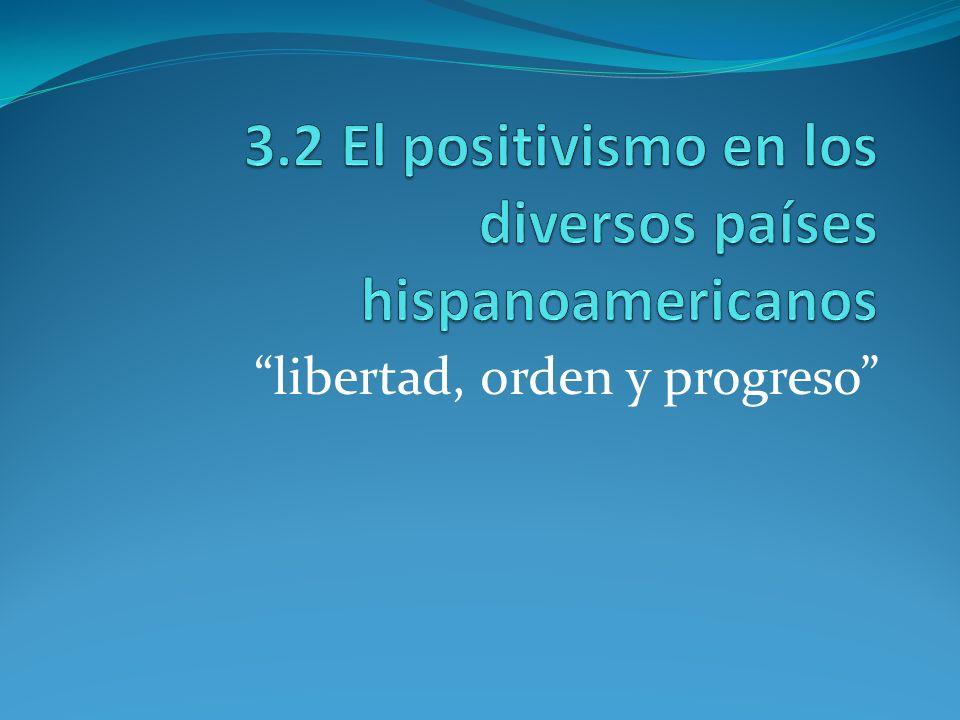 3.2 El positivismo en los diversos países hispanoamericanos