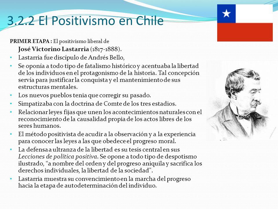 3.2.2 El Positivismo en Chile