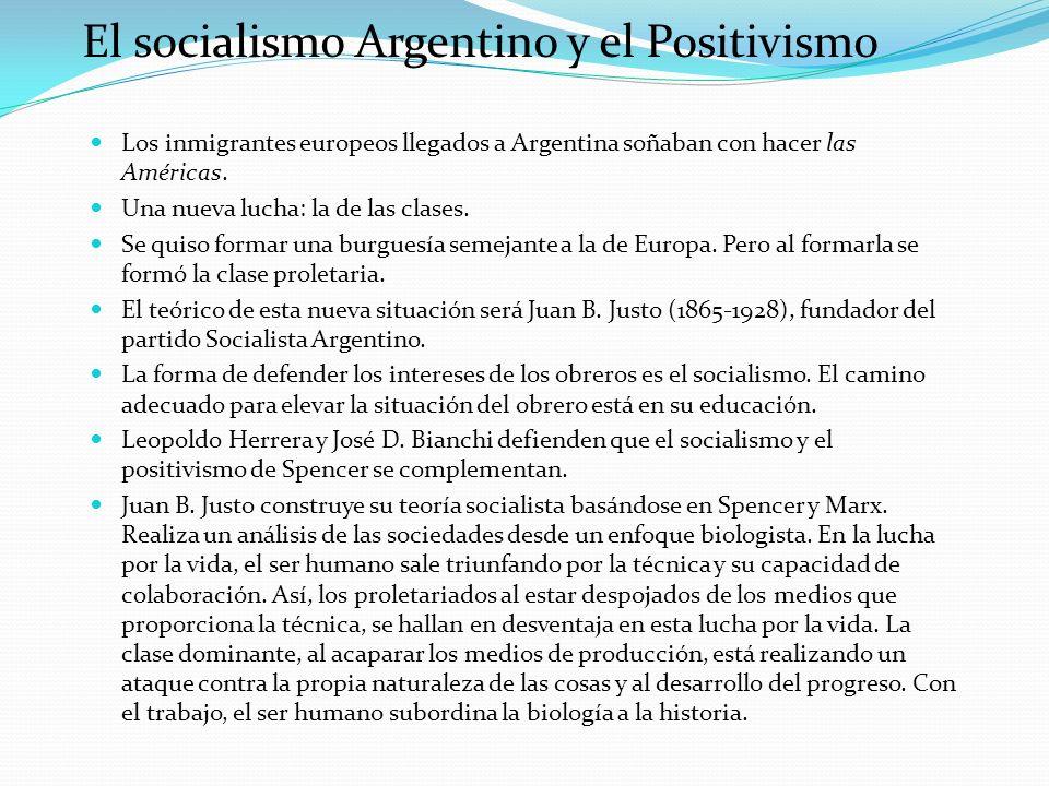 El socialismo Argentino y el Positivismo