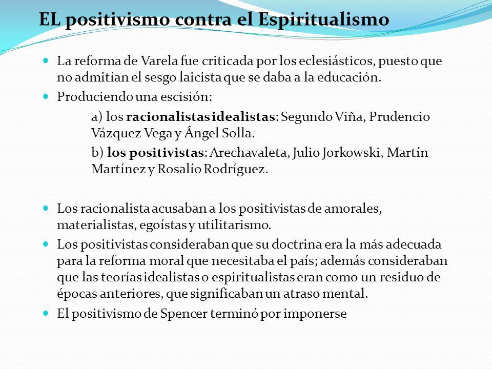 EL positivismo contra el Espiritualismo