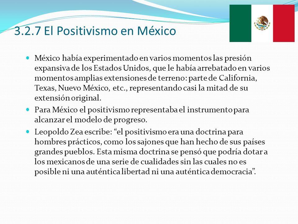 3.2.7 El Positivismo en México