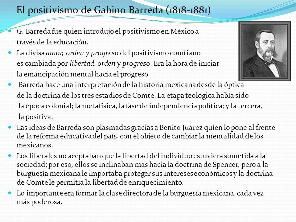 El positivismo de Gabino Barreda (1818-1881)