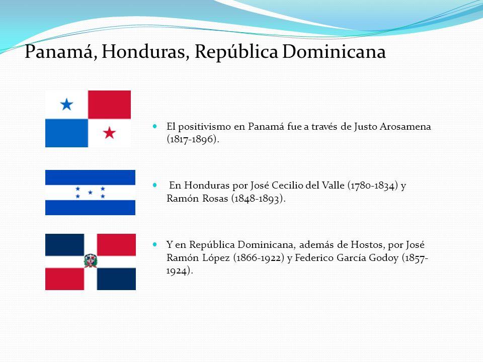 Panamá, Honduras, República Dominicana
