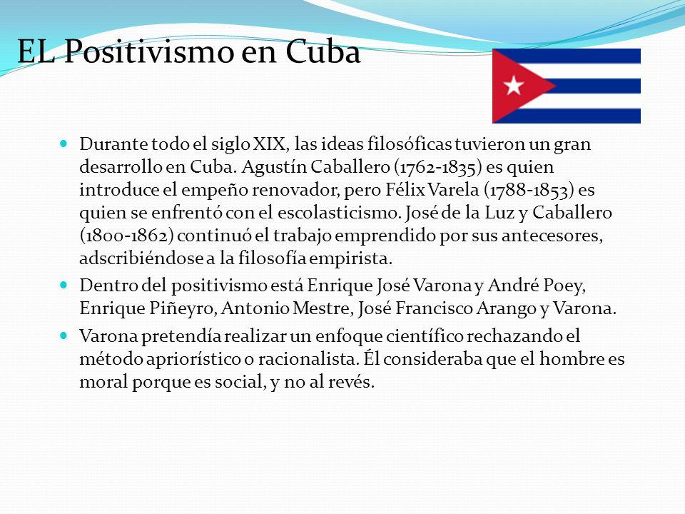 EL Positivismo en Cuba