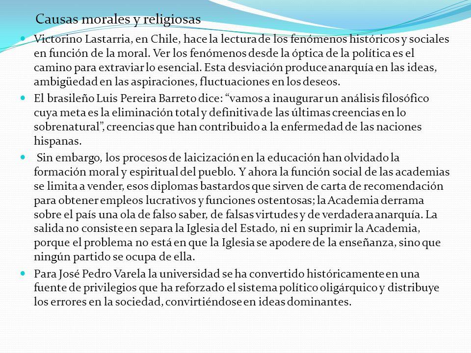 Causas morales y religiosas