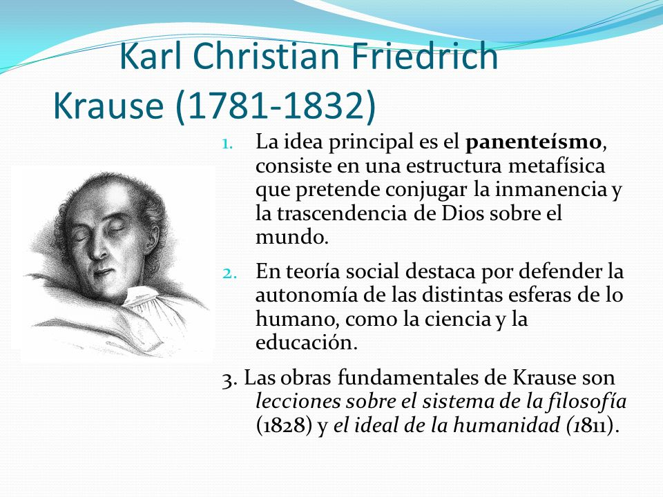 Karl Christian Friedrich Krause (1781-1832)