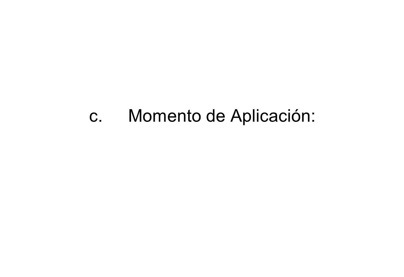 c. Momento de Aplicación: