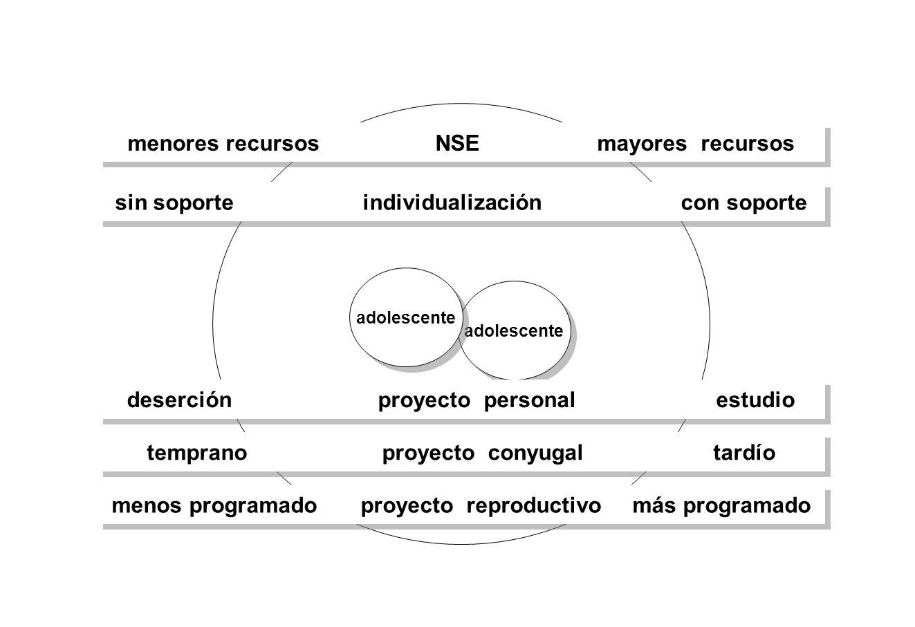 menores recursos NSE mayores recursos