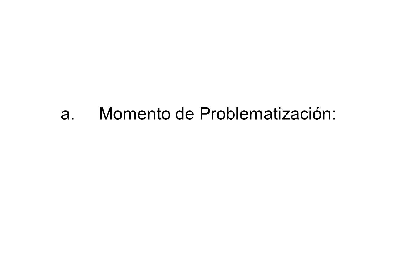 a. Momento de Problematización: