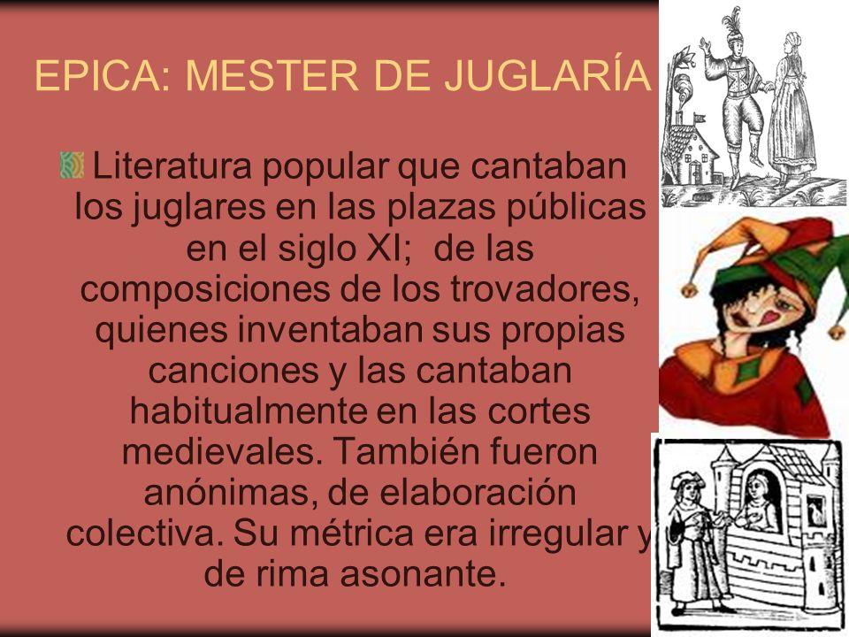EPICA: MESTER DE JUGLARÍA