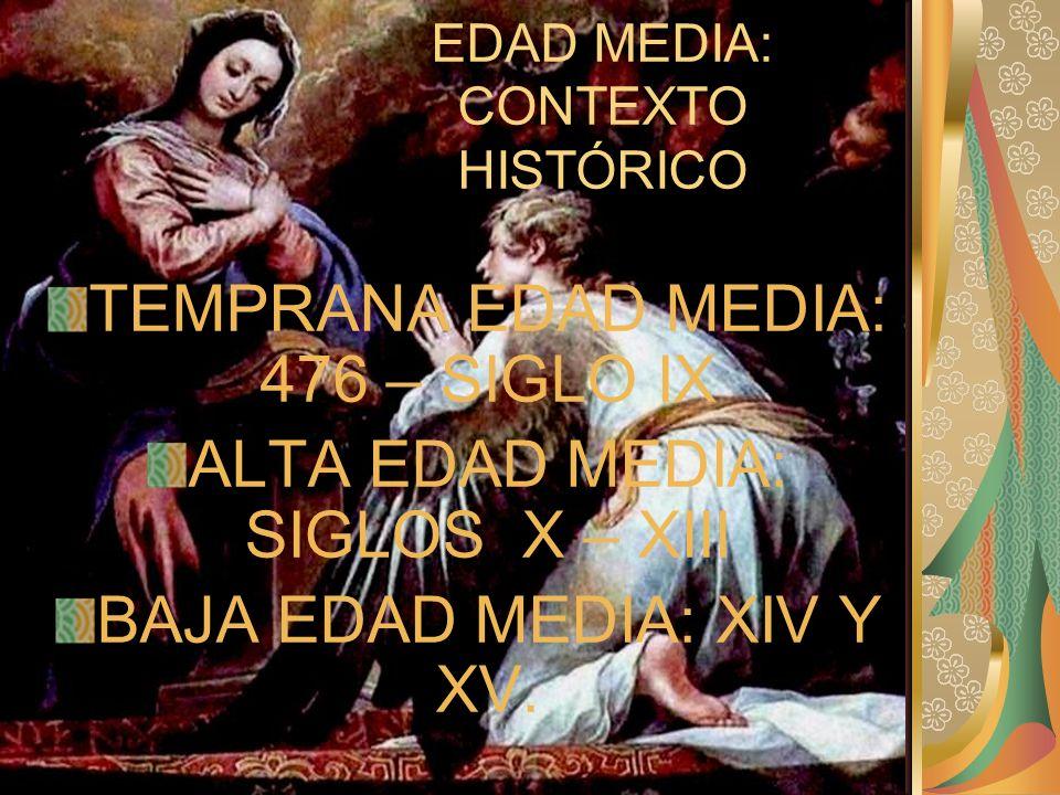 EDAD MEDIA: CONTEXTO HISTÓRICO