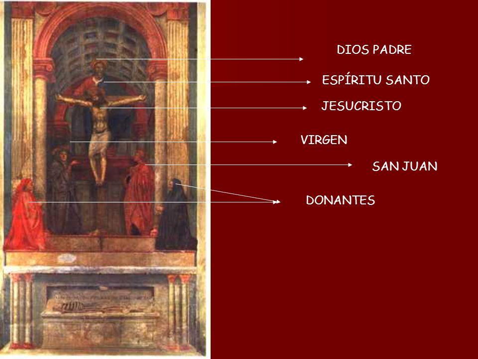 DIOS PADRE ESPÍRITU SANTO JESUCRISTO VIRGEN SAN JUAN DONANTES