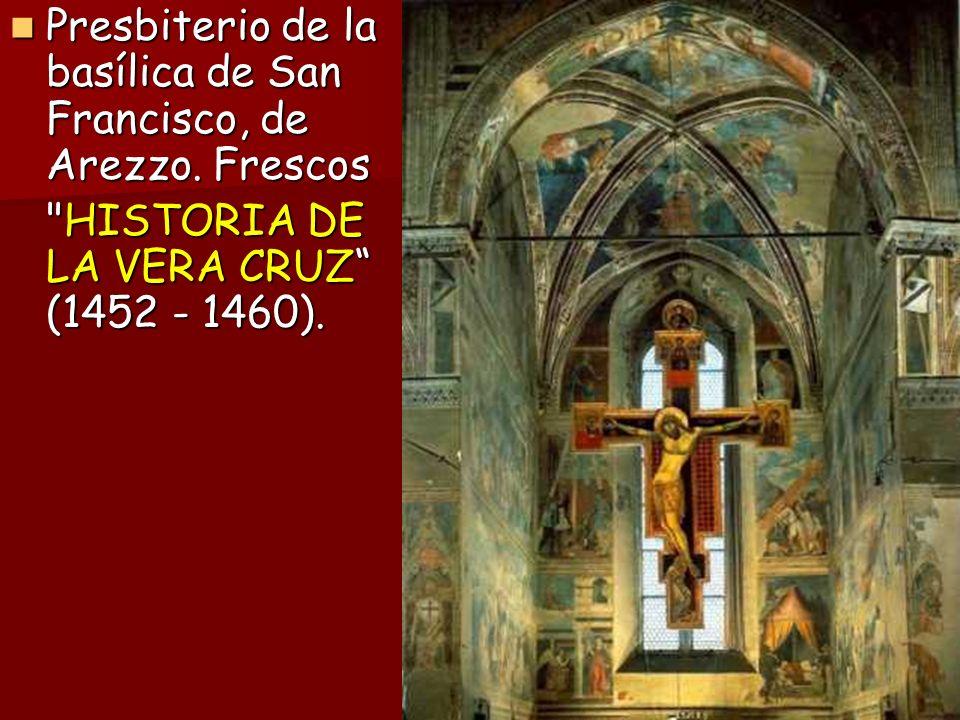 Presbiterio de la basílica de San Francisco, de Arezzo. Frescos