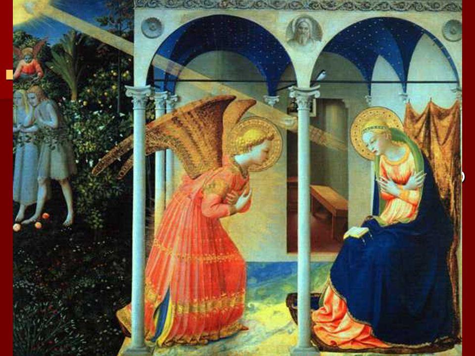 Además, frente a Masaccio, Fra Angélico representa la tendencia del humanismo religioso , que pretende que cada obra sea espejo de la belleza ideal que subyace en los hombres y en las cosas, de una belleza que no procura la temporalidad sino la trascendencia.