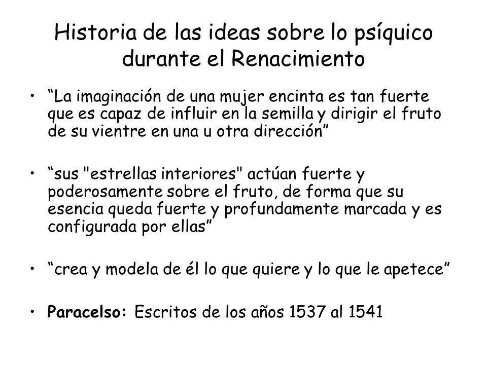 Historia de las ideas sobre lo psíquico durante el Renacimiento