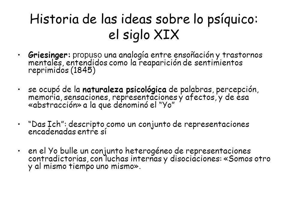 Historia de las ideas sobre lo psíquico: el siglo XIX