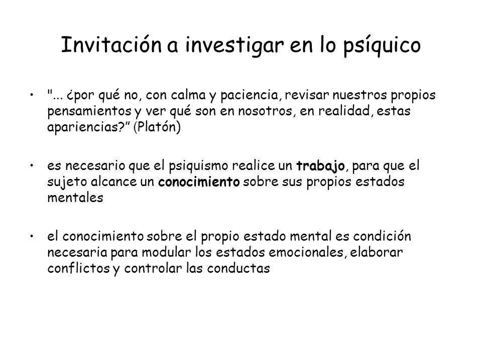 Invitación a investigar en lo psíquico