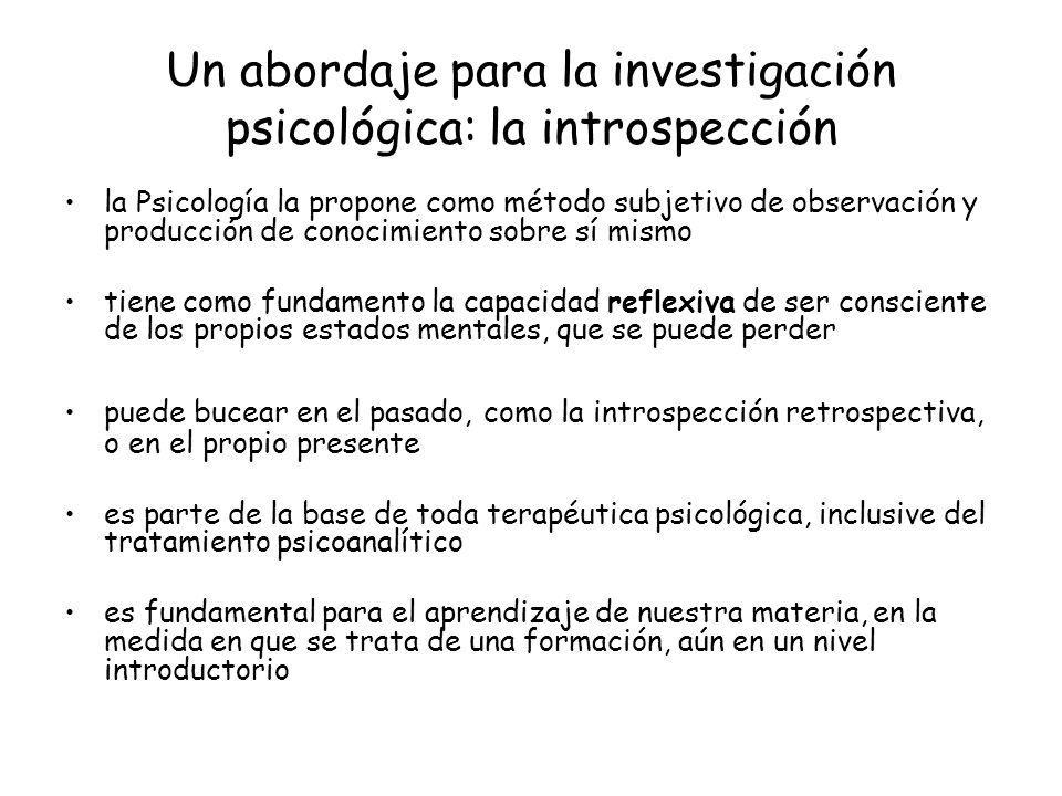 Un abordaje para la investigación psicológica: la introspección