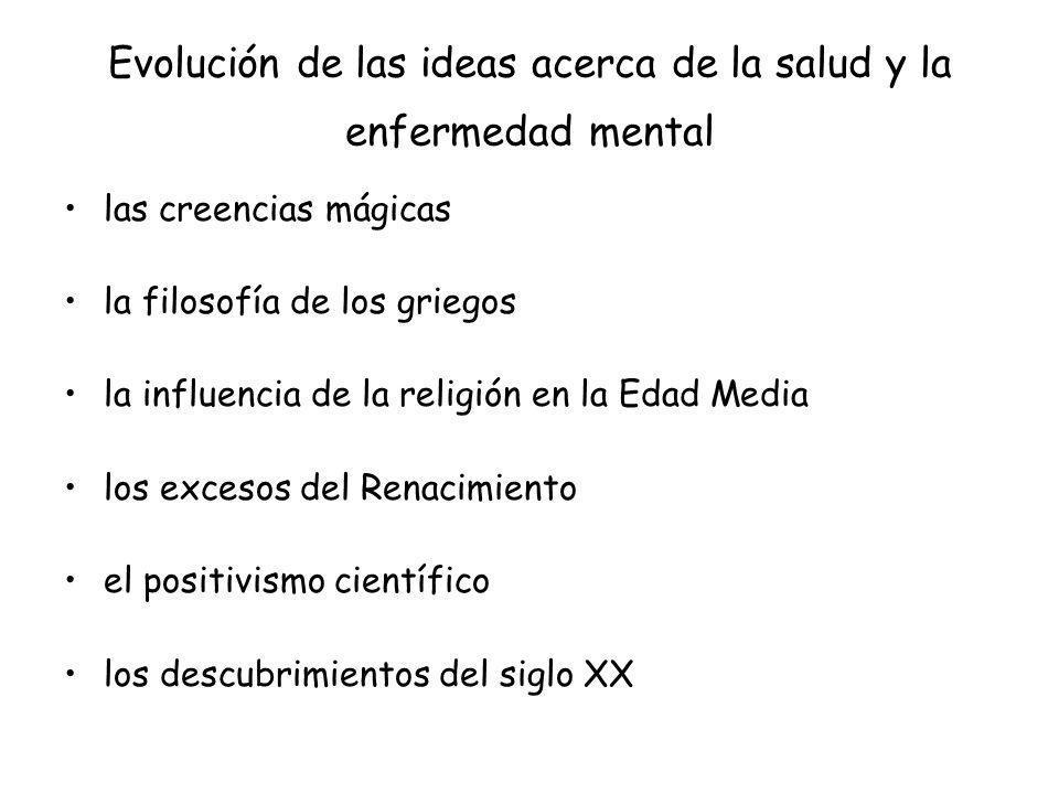 Evolución de las ideas acerca de la salud y la enfermedad mental