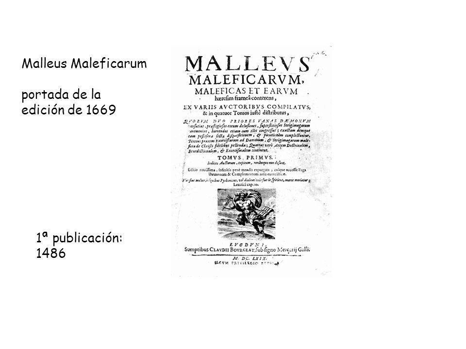 Malleus Maleficarum portada de la edición de 1669 1ª publicación: 1486