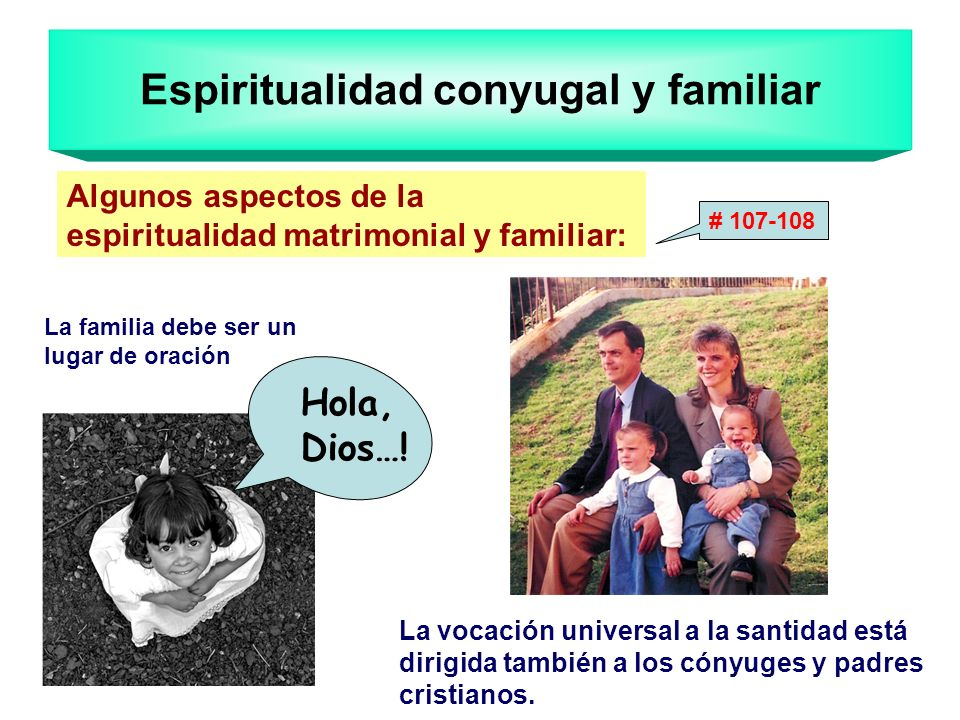 Espiritualidad conyugal y familiar