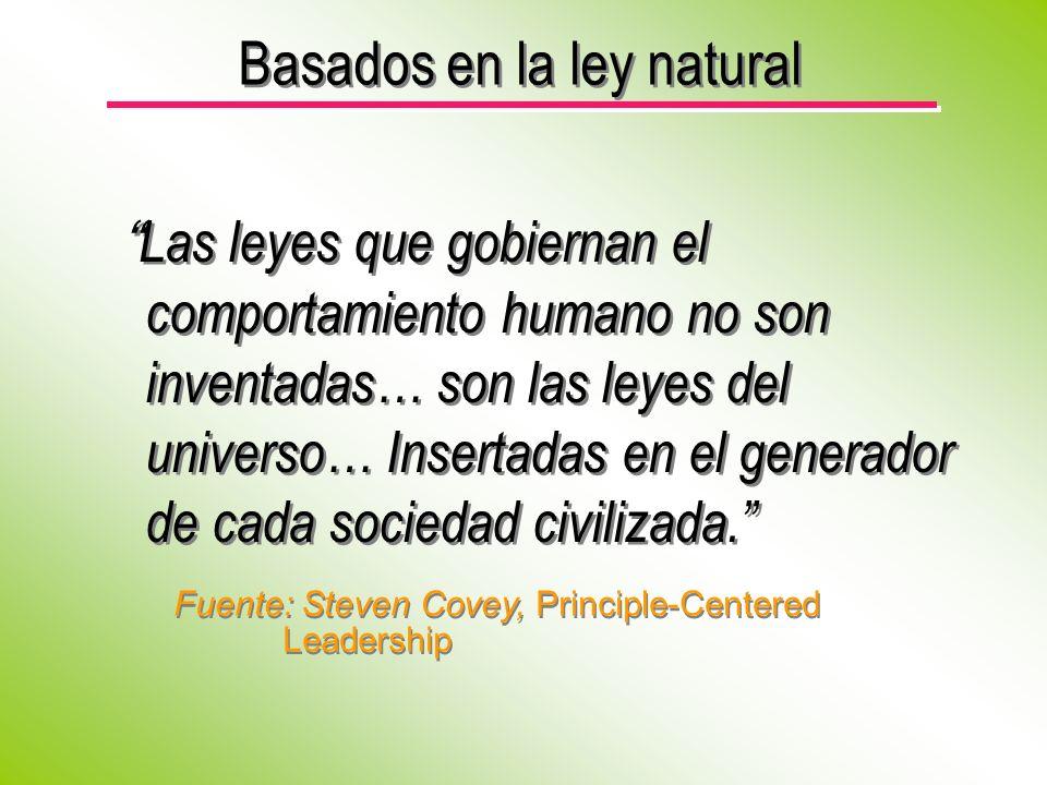 Basados en la ley natural