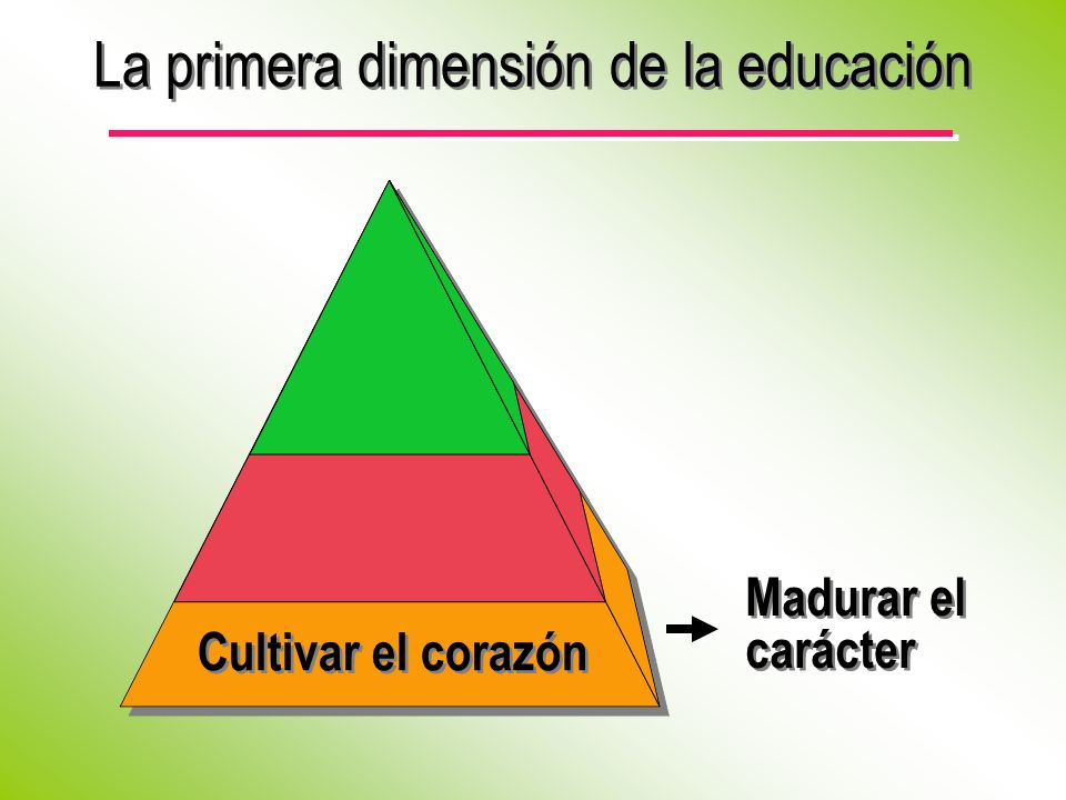 La primera dimensión de la educación