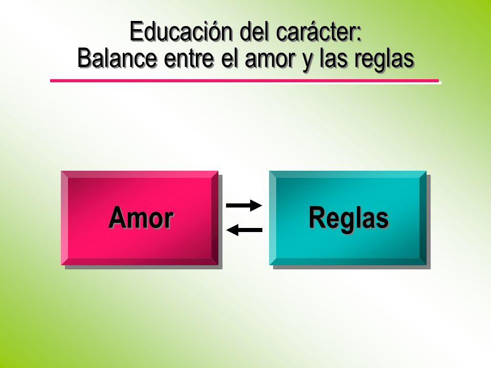 Educación del carácter: Balance entre el amor y las reglas