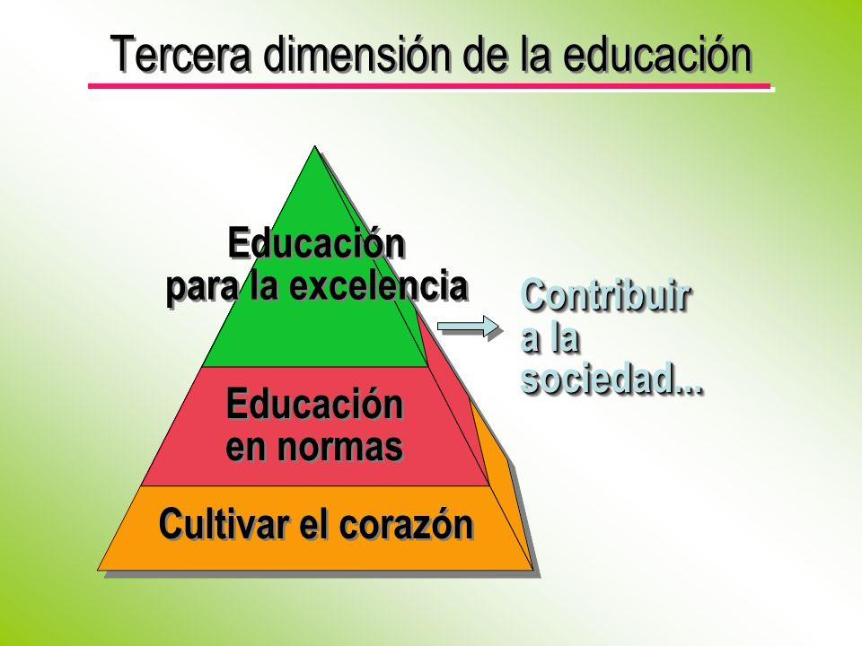 Tercera dimensión de la educación
