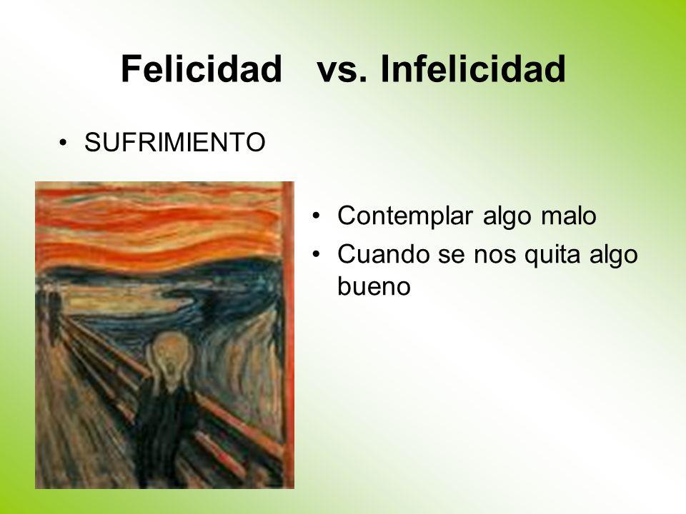 Felicidad vs. Infelicidad