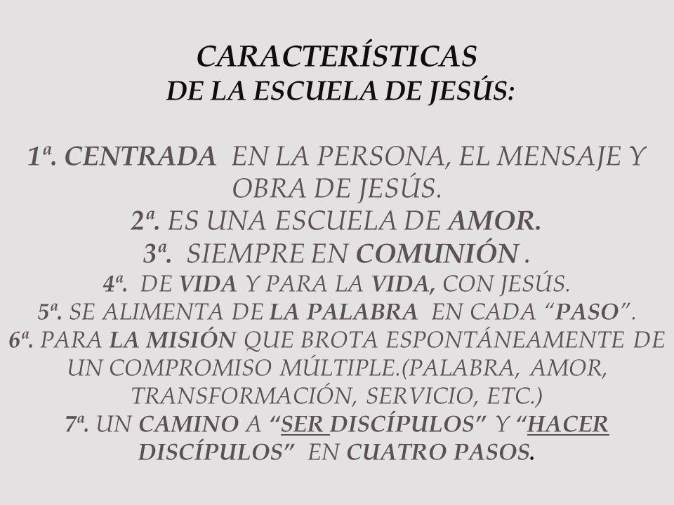 CARACTERÍSTICAS DE LA ESCUELA DE JESÚS: 1ª
