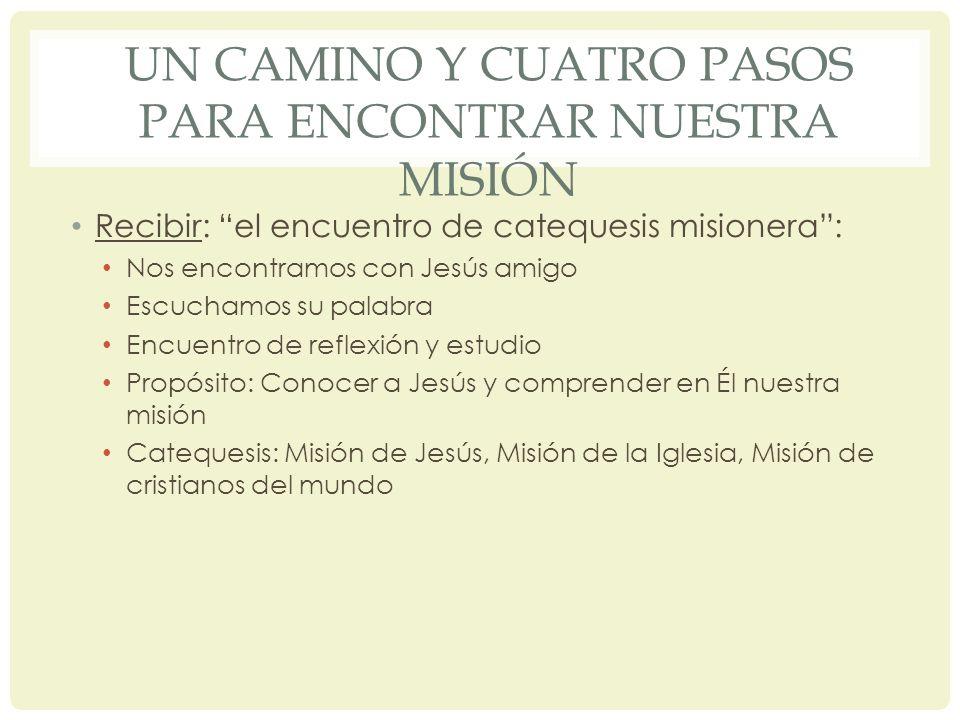 UN CAMINO Y CUATRO PASOS PARA ENCONTRAR NUESTRA MISIÓN