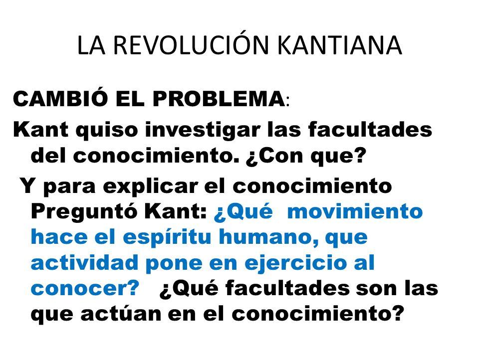 LA REVOLUCIÓN KANTIANA