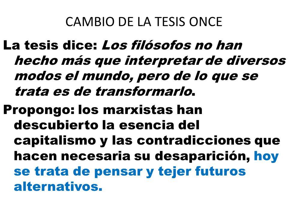 CAMBIO DE LA TESIS ONCE