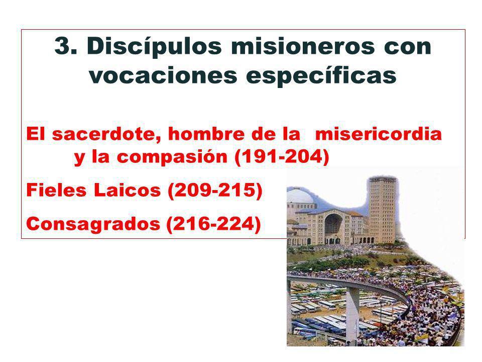 3. Discípulos misioneros con vocaciones específicas