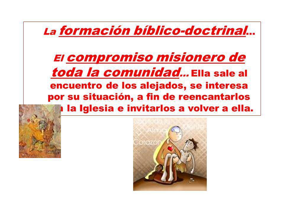 La formación bíblico-doctrinal…