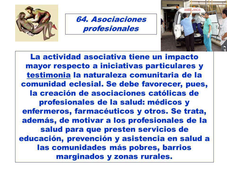 64. Asociaciones profesionales