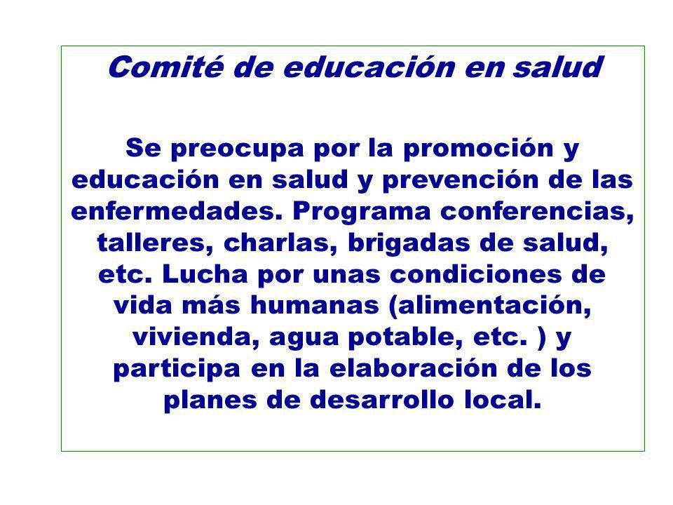 Comité de educación en salud