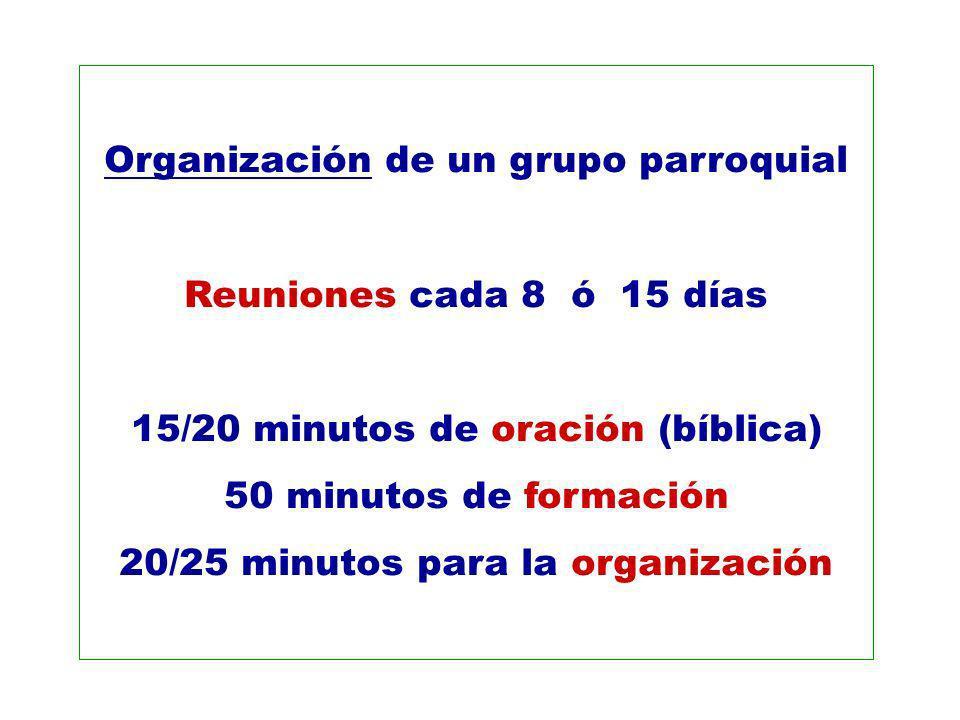 Organización de un grupo parroquial
