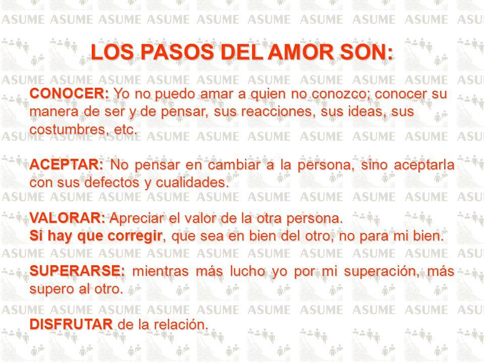 LOS PASOS DEL AMOR SON: