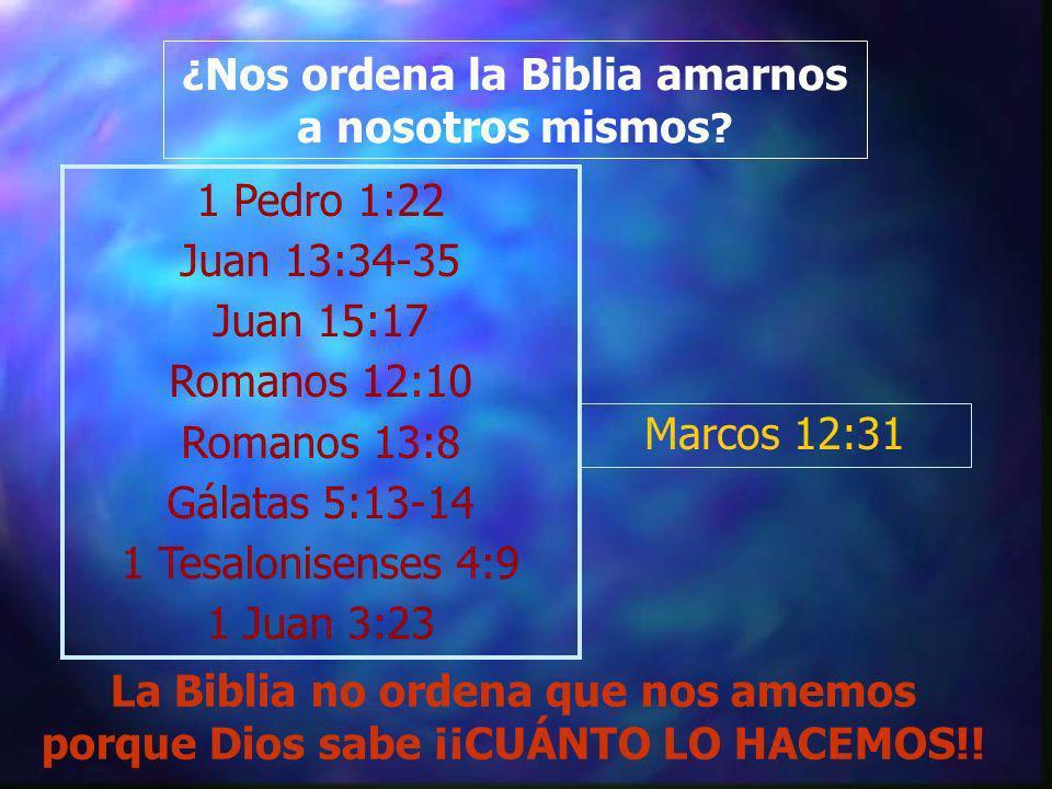 ¿Nos ordena la Biblia amarnos a nosotros mismos