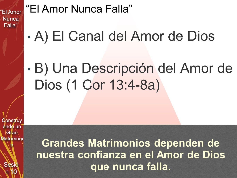 A) El Canal del Amor de Dios