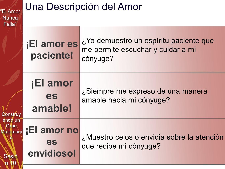 ¡El amor no es envidioso!