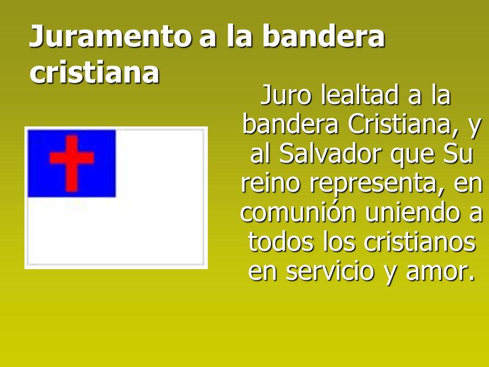 Juramento a la bandera cristiana