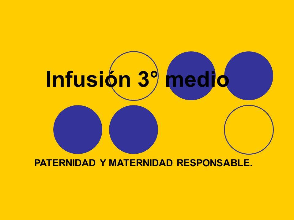Infusión 3° medio PATERNIDAD Y MATERNIDAD RESPONSABLE.