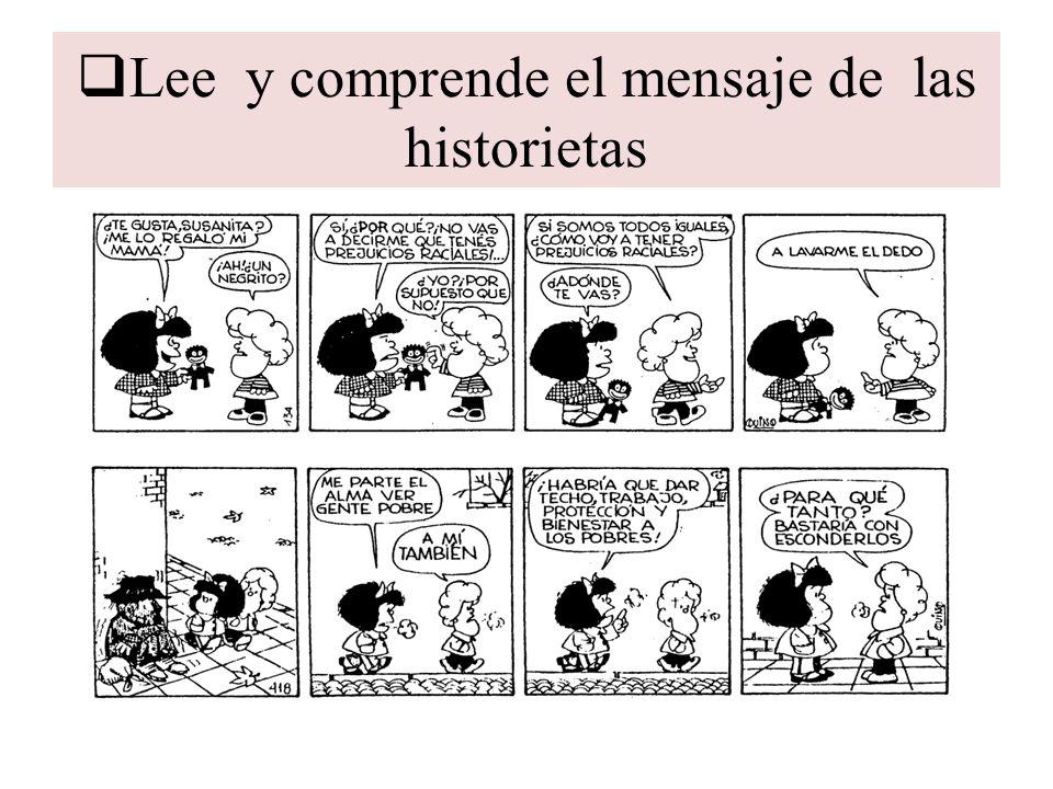 Lee y comprende el mensaje de las historietas